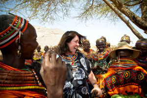 BOMA founder Kathleen Colson with REAP participants in the village of Lengima. To date, The BOMA Project has impacted more than 44,000 women and children.